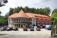 Ski resort, hotel, restaurant Blagodat at the Stock Photo