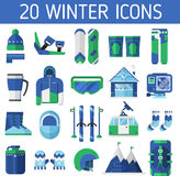 Ski Resort Icons Stock Image