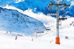 Free Ski Resort In Winter Alps. Val Thorens, 3 Valleys, France Stock Images - 170072714