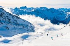 Free Ski Resort In Winter Alps. Val Thorens, 3 Valleys, France Stock Photo - 170997310