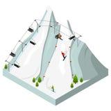 Ski Resort Isometric View Vettore Immagine Stock Libera da Diritti