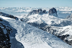 Ski resort in the Italian Dolomites Royalty Free Stock Images