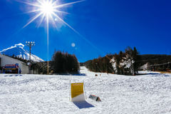 Ski Resort Japón Foto de archivo libre de regalías