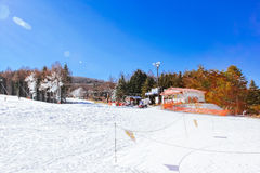 Ski Resort Japan Lizenzfreie Stockfotos