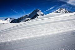 Ski resort kaprun. And zell am see Royalty Free Stock Image