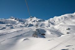 Ski resort of Kaprun, Austria Royalty Free Stock Photos