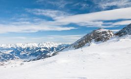 Ski resort of Kaprun. Austria Stock Images