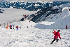 Ski resort of Kaprun,  Austria Royalty Free Stock Photos