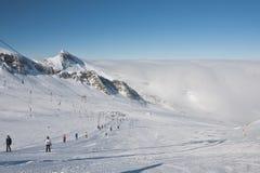Ski resort of Kaprun,. Austria Royalty Free Stock Photo
