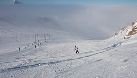Ski resort of Kaprun,. Austria Royalty Free Stock Photography
