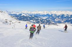 Ski resort of Kaprun, Austria Stock Images