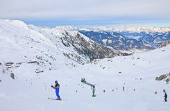 Ski resort of Kaprun,  Austria Stock Photography