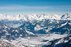 Ski resort of Kaprun, Austria Stock Photography