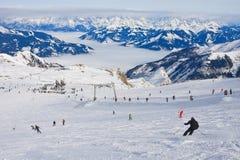 Ski resort of Kaprun,  Austria Stock Images