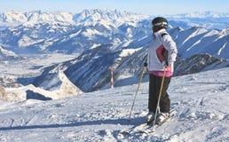 Ski resort of Kaprun,  Austria Royalty Free Stock Photography