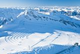 Ski resort  Kaprun, Austrian Alps Royalty Free Stock Photos