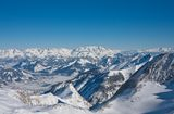 Ski resort  Kaprun, Austrian Alps Stock Images