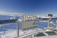 Ski resort of Kaprun, Kitzsteinhorn glacier. Austria Royalty Free Stock Photos