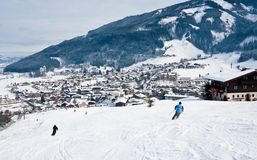 Ski resort Kaprun - Maiskogel Royalty Free Stock Image