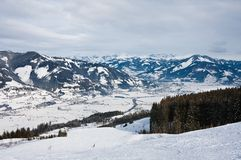 Ski resort Kaprun - Maiskogel Stock Photo