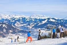 Ski resort Kaprun - Maiskogel. Austria Stock Images