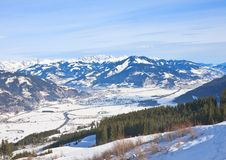 Ski resort Kaprun - Maiskogel. Austria Royalty Free Stock Photo