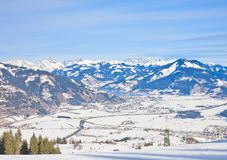 Ski resort Kaprun - Maiskogel. Austria Royalty Free Stock Images