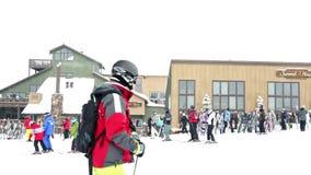 Ski resort stock video