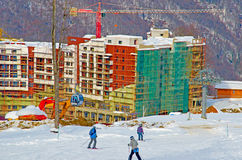 Ski resort of Krasnaya Polyana. Royalty Free Stock Photo