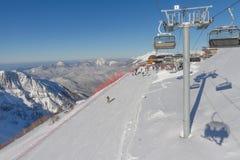 Ski resort. Krasnaya Polyana, Sochi, Russia Royalty Free Stock Photo