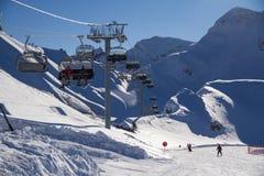 Ski resort. Krasnaya Polyana, Sochi, Russia Stock Photo