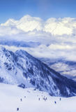 Ski resort Krasnaya Polyana SOCHI. Is a wonderful place for a family vacation Stock Images