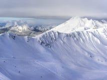 Ski resort Krasnaya Polyana SOCHI. Is a wonderful place for a family vacation Royalty Free Stock Image