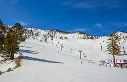 Ski resort in Lake Tahoe. California Royalty Free Stock Photography