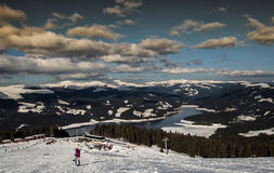 Ski resort on Lake Vidraru Royalty Free Stock Photo