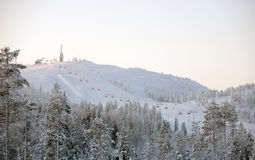 Ski resort landscape Stock Photos