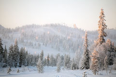 Ski resort landscape Royalty Free Stock Photography