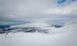 Ski resort landscape Royalty Free Stock Photography