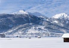 Ski resort, Lermoos, Austria, Europe royalty free stock photo