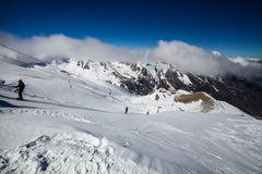 Ski resort Les Orres, Hautes-Alpes, France. Ski resort Les Orres, Hautes-Alpes France Stock Images