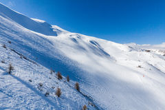 Ski resort Les Orres, Hautes-Alpes, France. Ski resort Les Orres, Hautes-Alpes France Stock Photography