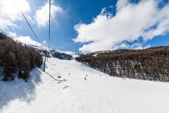 Ski resort Les Orres, Hautes-Alpes, France. Ski resort Les Orres, Hautes-Alpes France Royalty Free Stock Images