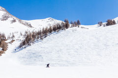 Ski resort Les Orres, Hautes-Alpes, France stock photos