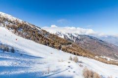 Ski resort Les Orres, Hautes-Alpes, France Stock Image