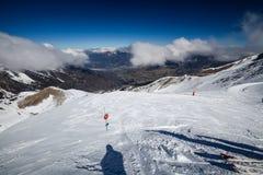Ski resort Les Orres, Hautes-Alpes, France Royalty Free Stock Photography