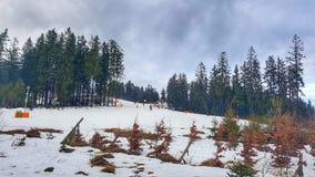 Ski Slope in Lipno, Czechia. The Ski Resort Lipno in the South Bohemian Region of Czech Republic. Perfect ski slope of beginners Stock Photos