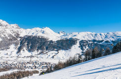 Ski resort Livigno. Italy Royalty Free Stock Images