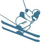 Ski resort logo emblems, labels badges vector Stock Image