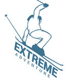 Ski resort logo emblems, labels badges vector Royalty Free Stock Photography