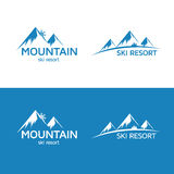 Ski resort logo Stock Image